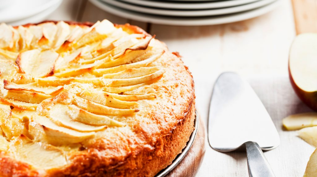 Apple and Marzipan Cake